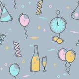 New Year`s Eve celebration seamless pattern Stock Photography