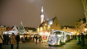 New Year's Eve on a central square. Tallinn stock footage