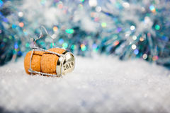 New Year's Eve/Champagne cork new year's 2019 Royalty Free Stock Images