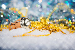 New Year's Eve/Champagne cork new year's 2018 Stock Photos