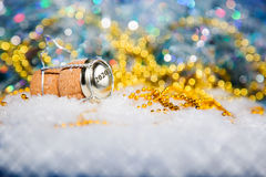 New Year's Eve/Champagne cork new year's 2020. New Year's Eve/Champagne cork  in the snow new year's 2020 Royalty Free Stock Photos