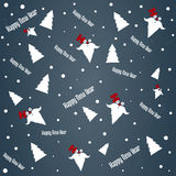 New year`s Eve and Christmas pattern. The pattern of a Christmas tree, Santa Claus and a happy new year Royalty Free Stock Photography