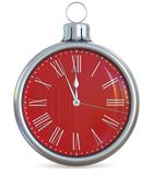 New Year`s Eve clock last hour midnight countdown pressure Royalty Free Stock Images