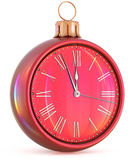 New Year`s Eve clock midnight hour countdown pressure time Stock Image