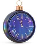 New Year`s Eve clock midnight last hour countdown pressure Stock Photo