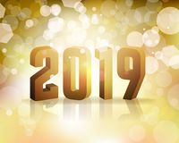 2019 New Year`s Eve Concept Illustration. The year 2019 New Year`s Eve concept illustration. Vector EPS 10 available Royalty Free Stock Photos