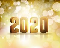 2020 New Year`s Eve Concept Illustration. The year 2020 New Year`s Eve concept illustration. Vector EPS 10 available Royalty Free Stock Photography