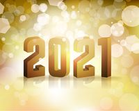 2021 New Year`s Eve Concept Illustration. The year 2021 New Year`s Eve concept illustration. Vector EPS 10 available Royalty Free Stock Photo