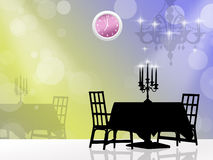 New Year's Eve dinner Royalty Free Stock Photography