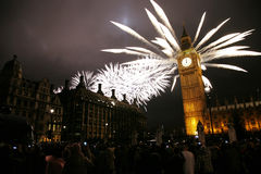 New Year's Eve Fireworks Royalty Free Stock Photo