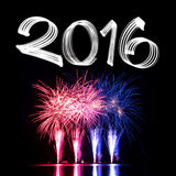 New Year's Eve 2016 with Fireworks Royalty Free Stock Photography