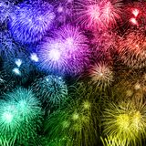 New Year`s Eve fireworks background years year square colorful f royalty free illustration