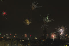New Year`s Eve Fireworks Royalty Free Stock Photo