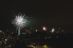 New Year`s Eve Fireworks Royalty Free Stock Photography