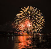 New year's eve fireworks. Royalty Free Stock Photo