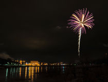 New year's eve fireworks. Royalty Free Stock Photos
