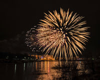 New year's eve fireworks. Royalty Free Stock Images