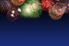 New Year`s Eve fireworks copyspace copy space years year firewor royalty free stock photo