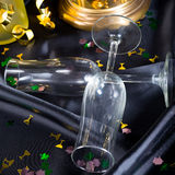 New Year's Eve glass and champagne Stock Photography