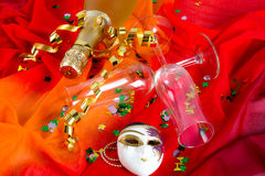 New Year's Eve glass and champagne Royalty Free Stock Photo