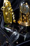 New Year's Eve glass and champagne Royalty Free Stock Photography