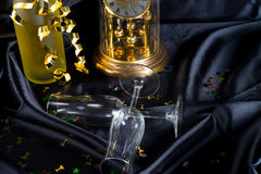 New Year's Eve glass and champagne Royalty Free Stock Image