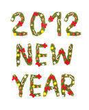 New Year's Eve greeting. 2012 Royalty Free Stock Photos
