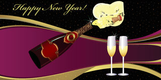 New Year's Eve greeting card. Royalty Free Stock Image