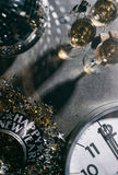 2017 New Year`s Eve Grunge Background With Champagne And Disco B Stock Photo