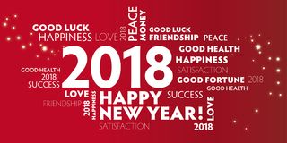 New Year`s Eve 2018 - happy new year 2018New Year`s Eve2018 re Royalty Free Stock Images