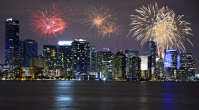 New Year`s Eve in Miami Stock Image