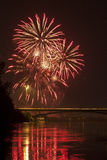 New Year's Eve midnight fireworks 2 Royalty Free Stock Images
