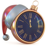 New Year`s Eve midnight hour Christmas ball clock countdown Royalty Free Stock Photography
