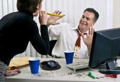 New Year's Eve Office Party Royalty Free Stock Photo