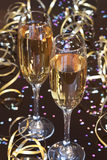New year's eve party. Two glasses champagne Royalty Free Stock Image