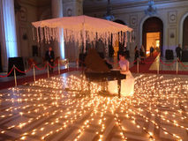 New Year's Eve Party at the Parliament Palace. Bucharest, Romania, 31 December 2015: New Year's Eve Party at the Parliament Palace known also as People's House Royalty Free Stock Photography