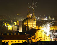 New Year's Eve in Pragud Stock Photography