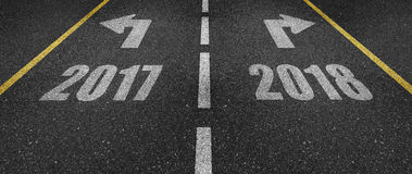 New Year`s Eve road marking. Symbolic New Year`s Eve road marking vector illustration
