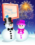 New Year's Eve: Snowman Royalty Free Stock Photography