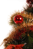 The new year's fir with decoration. The new year's fir with a decoration Royalty Free Stock Photography