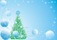 New year's fir tree Stock Photography