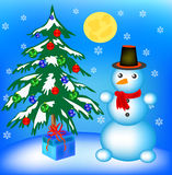 New year's fir tree in toy Royalty Free Stock Photo