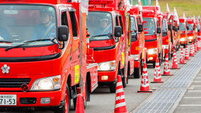 The New Year's Fire Review Kanagawa, Japan Royalty Free Stock Photography
