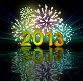 New Year's fireworks Royalty Free Stock Image