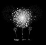 New Year's Fireworks. Beautiful Vector Fireworks for happy new year Stock Photos
