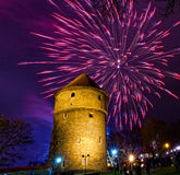 New Year's fireworks Stock Photos