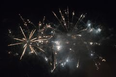 New Year's fireworks Stock Photography