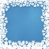 New Year's frame from snowflakes, Stock Photography