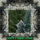 Picture for the holiday. ` Happy New Year!`.. royalty free stock photography