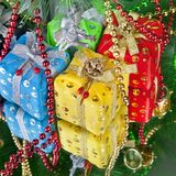 New year`s gift Royalty Free Stock Image